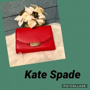 Kate Spade Callie Wallet in Cherry liquor